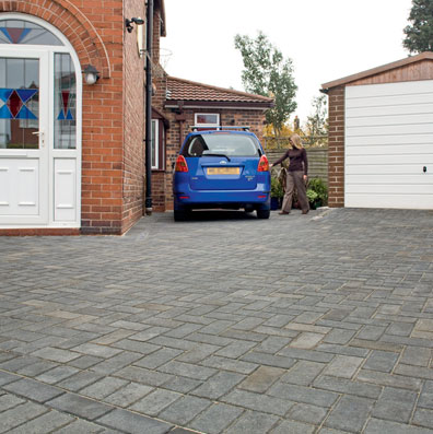 charcoal block paving