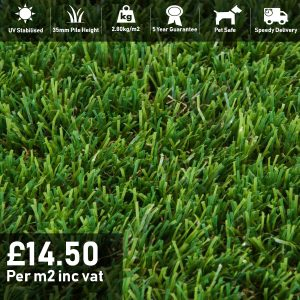 magestic artificial grass 35mm pile height