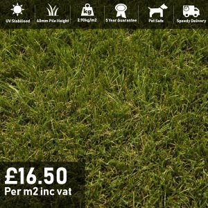 verdigris artificial grass 40mm pile height