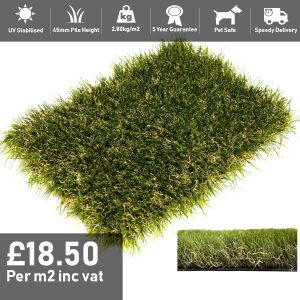 willow artificial grass 45mm pile height