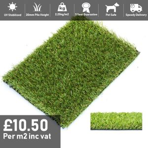 fairway artificial grass 20mm pile height