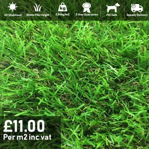 grassland artificial grass 30mm pile height